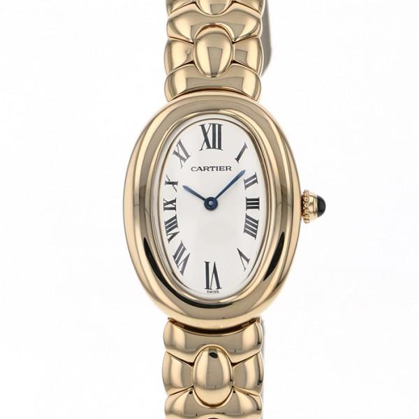 カルティエ CARTIER ベニュワール - ホワイト文字盤 レディース 腕時計 【中古】