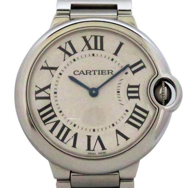 カルティエ CARTIER バロンブルー 36mm W69011Z4 シルバー文字盤 メンズ 腕時計 【中古】