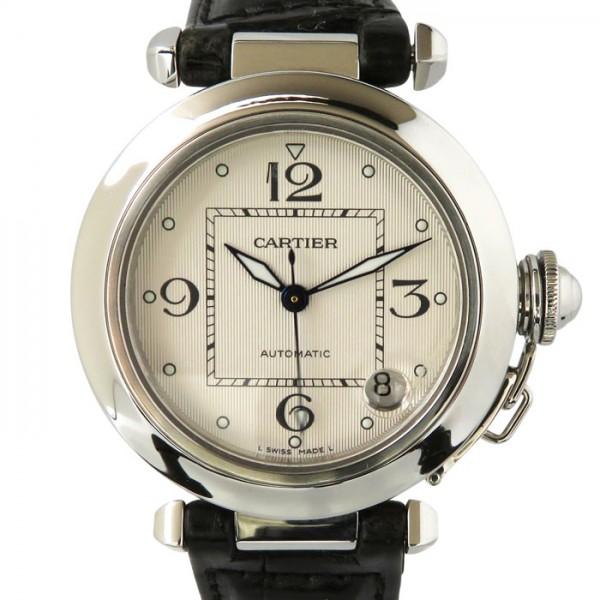 カルティエ CARTIER パシャ C - アイボリー文字盤 メンズ 腕時計 【中古】