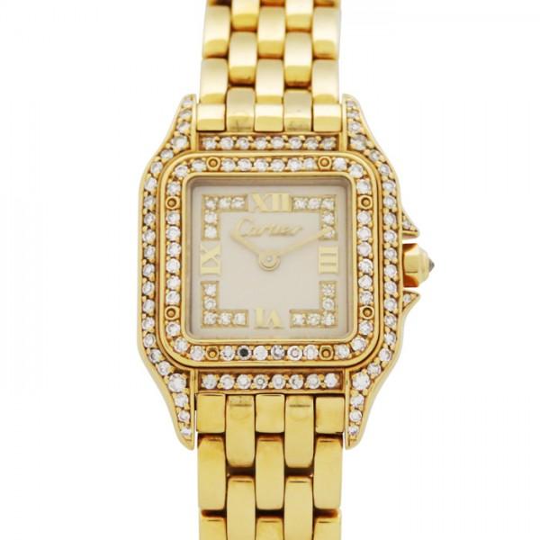 正規通販 カルティエ Cartier パンテール ベゼルダイヤ アイボリー文字盤  腕時計 レディース, ニイジマムラ 1740259c