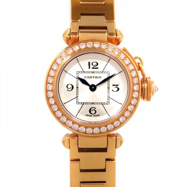 カルティエ CARTIER パシャ ミスパシャ ベゼルダイヤ WJ124013 シルバー文字盤 レディース 腕時計 【新品】