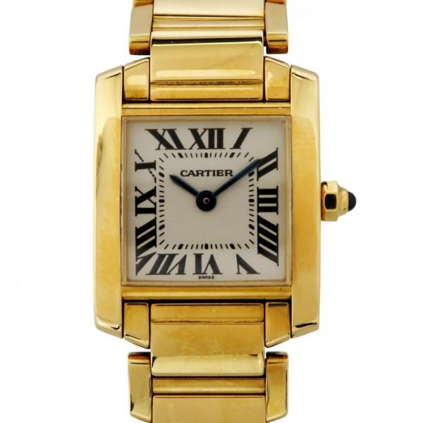 カルティエ CARTIER タンク フランセーズSM - ホワイト文字盤 レディース 腕時計 【中古】