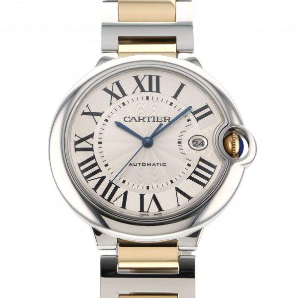 カルティエ CARTIER バロンブルー LM W69009Z3 シルバー文字盤 メンズ 腕時計 【中古】