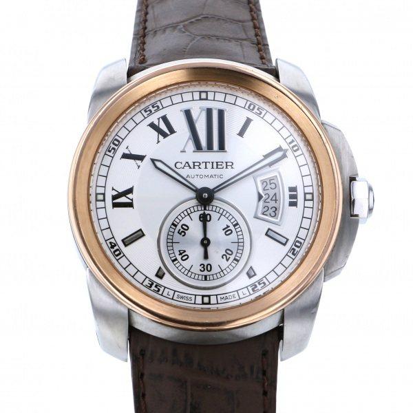 カルティエ CARTIER カリブル ドゥ カルティエ W2CA0002 ホワイト文字盤 メンズ 腕時計 【中古】