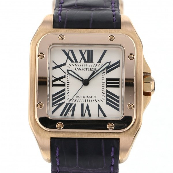 <title>カルティエ 当店限定販売 Cartier サントス W20095Y1 シルバー文字盤 中古 腕時計 メンズ</title>