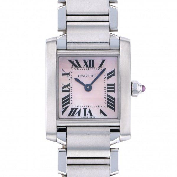 新発売 カルティエ Cartier タンク フランセーズ SM W51028Q3 ピンク文字盤  腕時計 レディース, 【ロイヤル通販】 20d05f3f