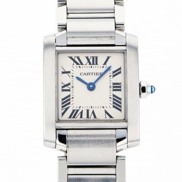 カルティエ CARTIER タンク フランセーズ SM - ホワイト文字盤 レディース 腕時計 【中古】