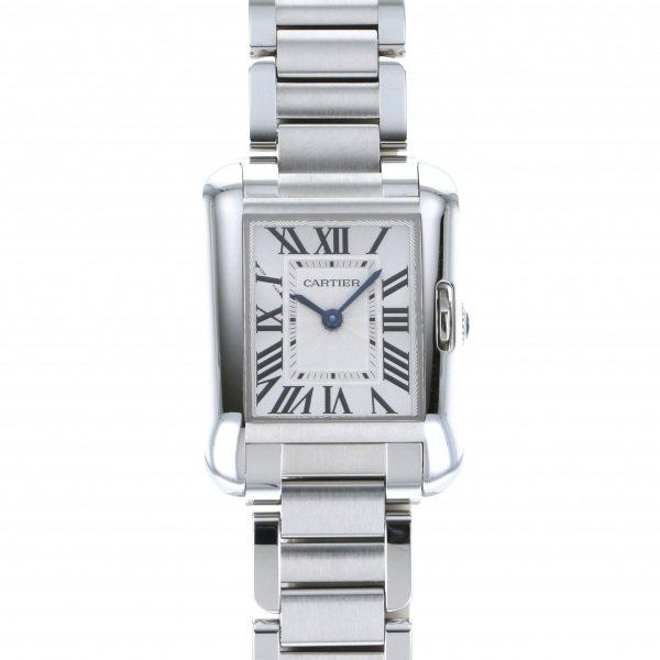 カルティエ CARTIER タンク アングレーズ SM W5310022 ホワイト文字盤 レディース 腕時計 【未使用】