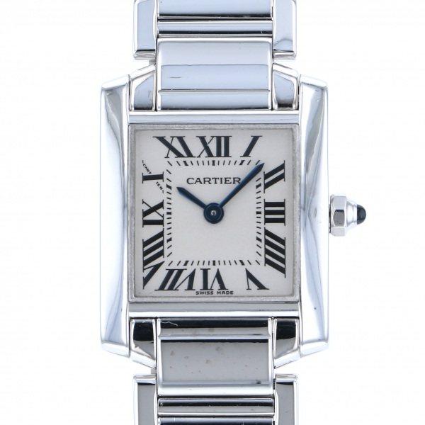 カルティエ CARTIER タンク フランセーズ SM W50012S3 シルバー文字盤 レディース 腕時計 【中古】