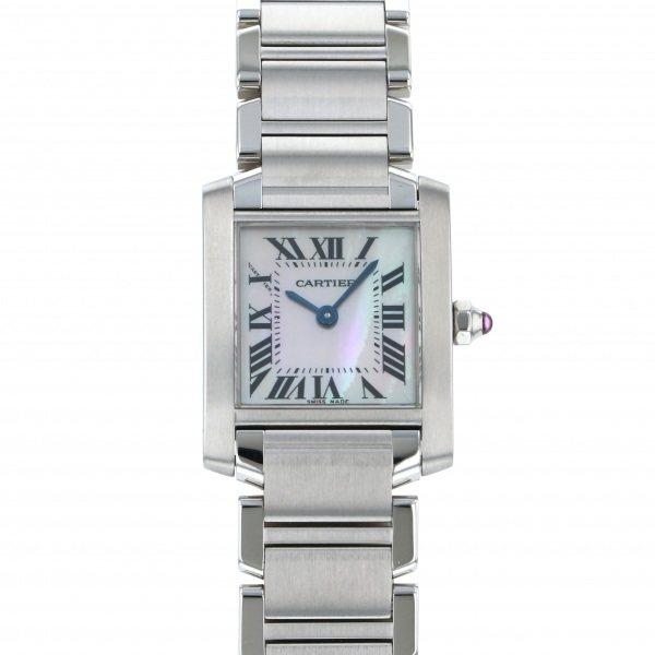 信頼 カルティエ Cartier タンク フランセーズ SM W51028Q3 ピンク文字盤  腕時計 レディース, インテリア生活雑貨のサンサンフー 066a0f1d