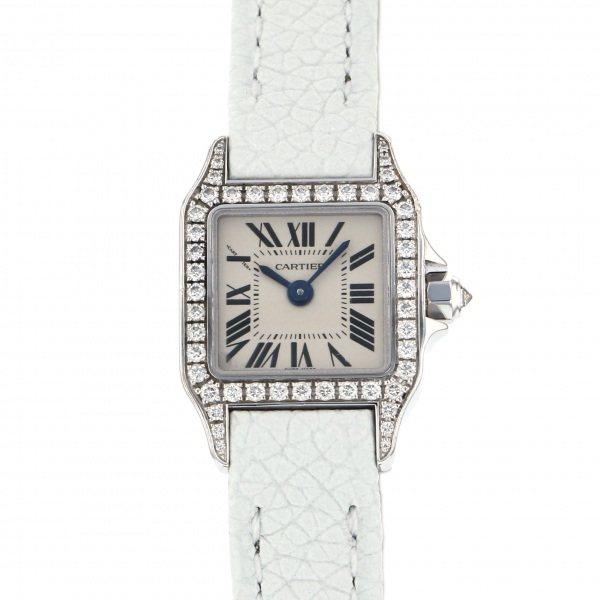 独特な店 カルティエ Cartier サントス ミニサントス ドゥモワゼル WF902005 シルバー文字盤  腕時計 レディース, パーツモール e1bf340c