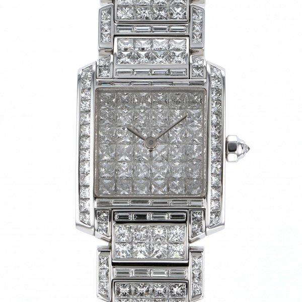 カルティエ CARTIER タンク フランセーズSM リビエール WL4073KF 全面ダイヤ文字盤 レディース 腕時計 【中古】