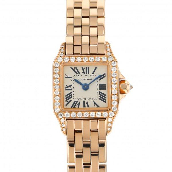 カルティエ CARTIER サントス ミニサントス ドゥ モワゼル WF9011Z8 シルバー文字盤 レディース 腕時計 【中古】