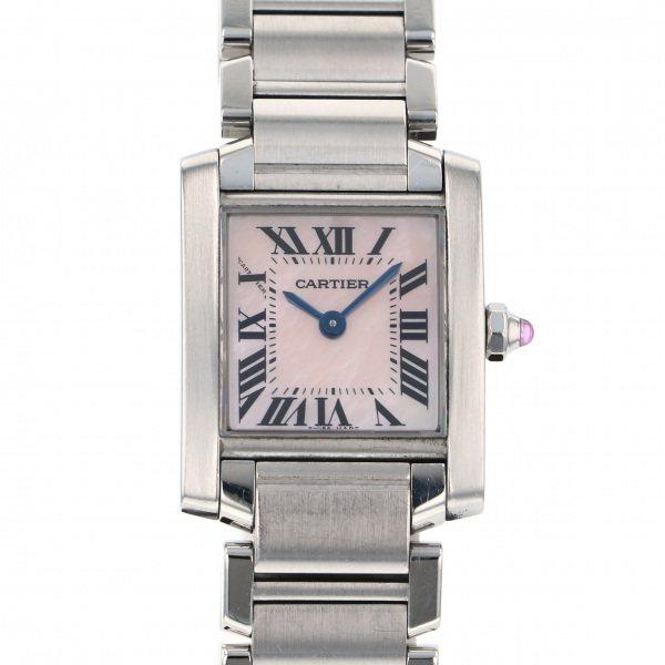 超特価激安 カルティエ Cartier タンク フランセーズ SM W51028Q3 ピンク文字盤  腕時計 レディース, gelato-petit d4a4eec7