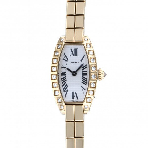 カルティエ CARTIER その他 ミニトノーラニエール WJ2007X3 シルバー文字盤 レディース 腕時計 【中古】