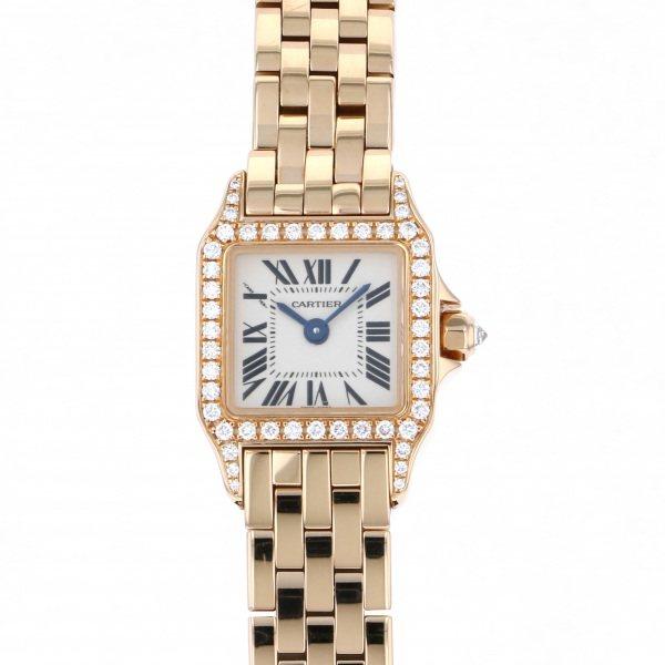 カルティエ CARTIER サントス ミニサントスドゥモワゼル WF9011Z8 シルバー文字盤 レディース 腕時計 【中古】