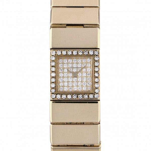 カルティエ CARTIER タンク ランゴ WA1010K6 全面ダイヤ文字盤 レディース 腕時計 【中古】