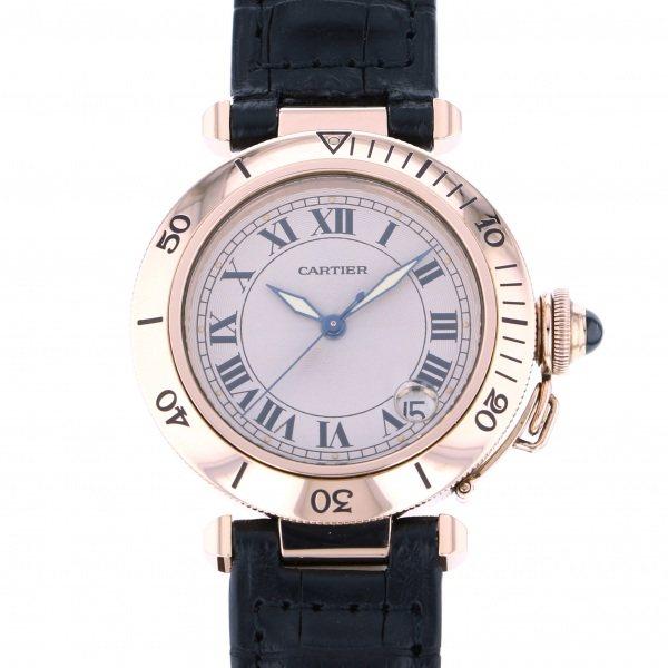 カルティエ CARTIER パシャ - ホワイト文字盤 メンズ 腕時計 【中古】