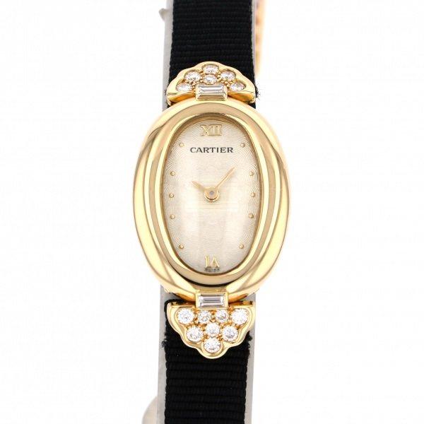 カルティエ CARTIER ベニュワール ナティヴァ ミニベニュワール ミャアジュモチーフ WB504331 シャンパン文字盤 レディース 腕時計 【中古】