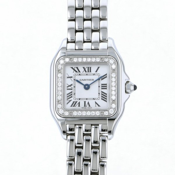 best website fd0c2 119a5 Cartier CARTIER and others bread tail do Cartier SM W4PN0007 white  clockface Lady's watch