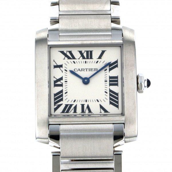 カルティエ CARTIER タンク フランセーズMM WSTA0005 ホワイト文字盤 メンズ 腕時計 【新品】