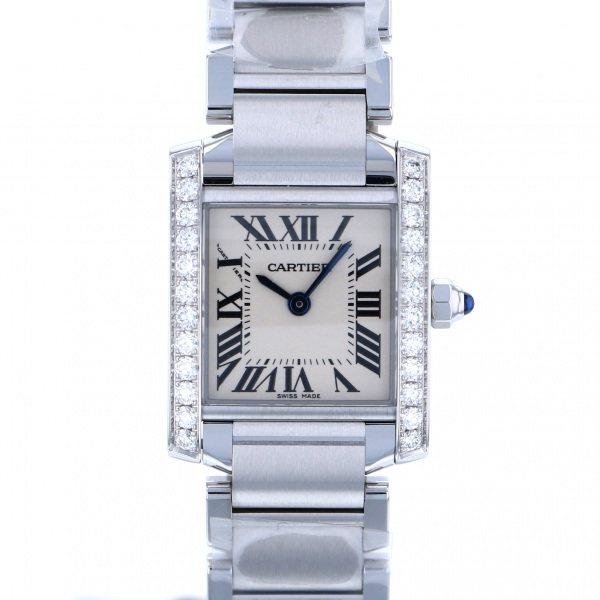 カルティエ CARTIER タンク フランセーズ SM W4TA0008 シルバー文字盤 レディース 腕時計 【新品】