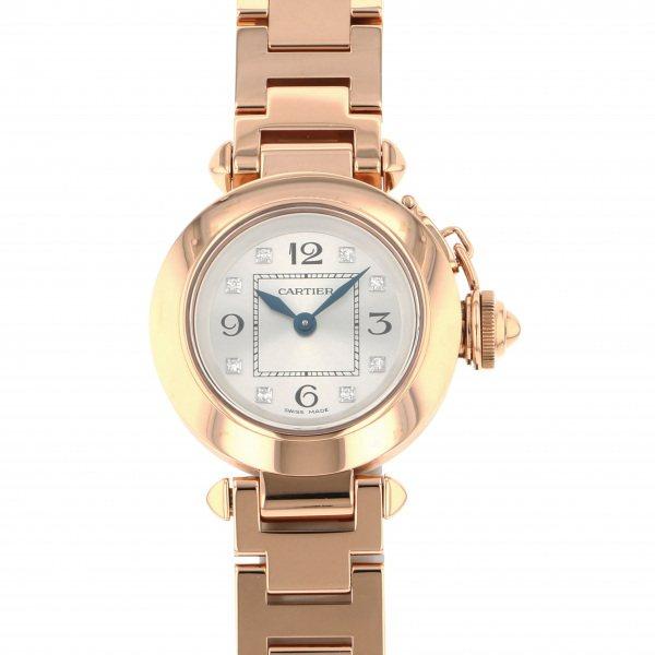 カルティエ CARTIER パシャ ミスパシャ WJ124016 シルバー文字盤 レディース 腕時計 【中古】