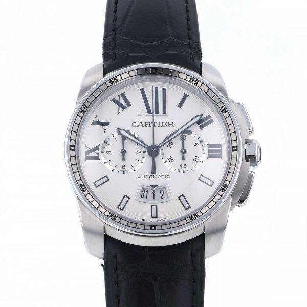 カルティエ CARTIER カリブル ドゥ カルティエ クロノグラフ W7100046 シルバー文字盤 メンズ 腕時計 【新品】