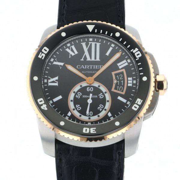 カルティエ CARTIER カリブル ドゥ カルティエ ダイバー W7100055 ブラック文字盤 メンズ 腕時計 【中古】