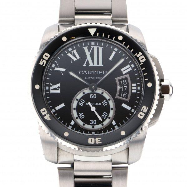 カルティエ CARTIER カリブル ドゥ カルティエ ダイバー W7100057 ブラック文字盤 メンズ 腕時計 【中古】