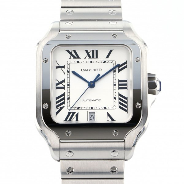 カルティエ CARTIER サントス ドゥ カルティエ LM WSSA0009 シルバー文字盤 メンズ 腕時計 【中古】