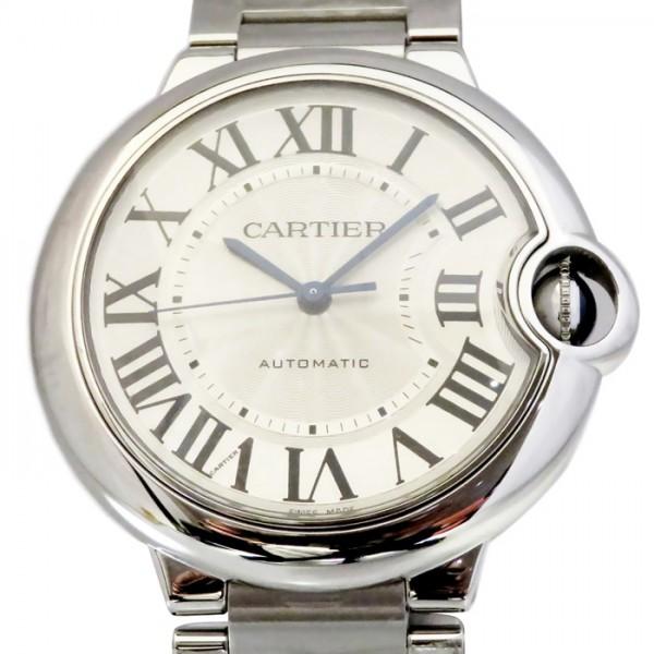 カルティエ CARTIER バロンブルー MM W6920046 シルバー文字盤 メンズ 腕時計 【新品】