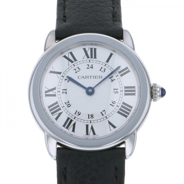 カルティエ CARTIER ロンドソロ WSRN0019 シルバー文字盤 レディース 腕時計 【新品】