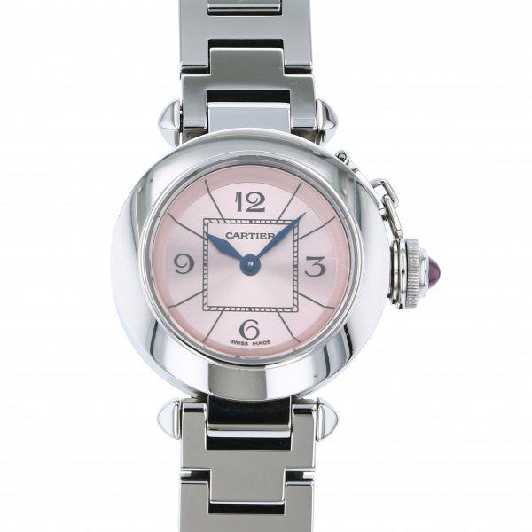 カルティエ CARTIER パシャ ミスパシャ W3140008 ピンク文字盤 レディース 腕時計 【中古】