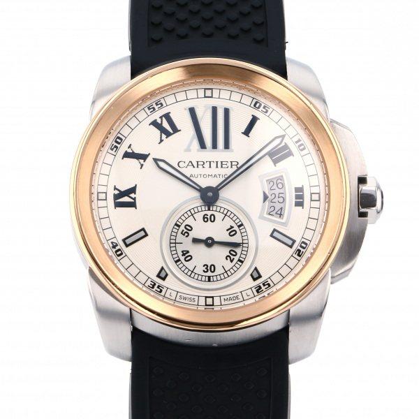 カルティエ CARTIER カリブル ドゥ カルティエ W7100039 シルバー文字盤 メンズ 腕時計 【中古】