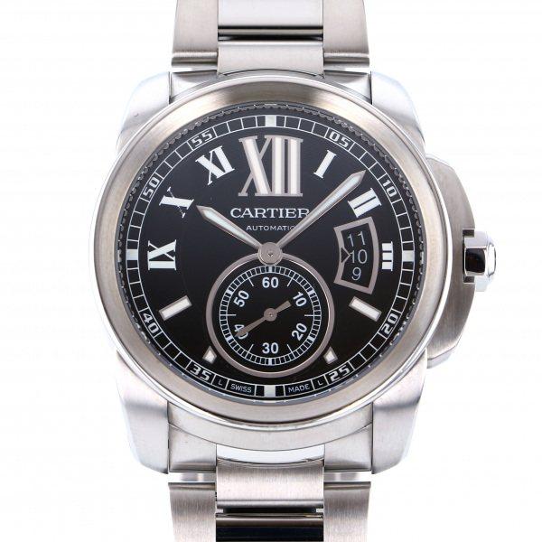 カルティエ CARTIER カリブル ドゥ カルティエ W7100016 ブラック文字盤 メンズ 腕時計 【中古】
