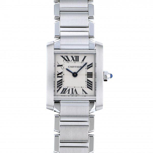 カルティエ CARTIER タンク フランセーズ SM W51008Q3 シルバー文字盤 レディース 腕時計 【新品】