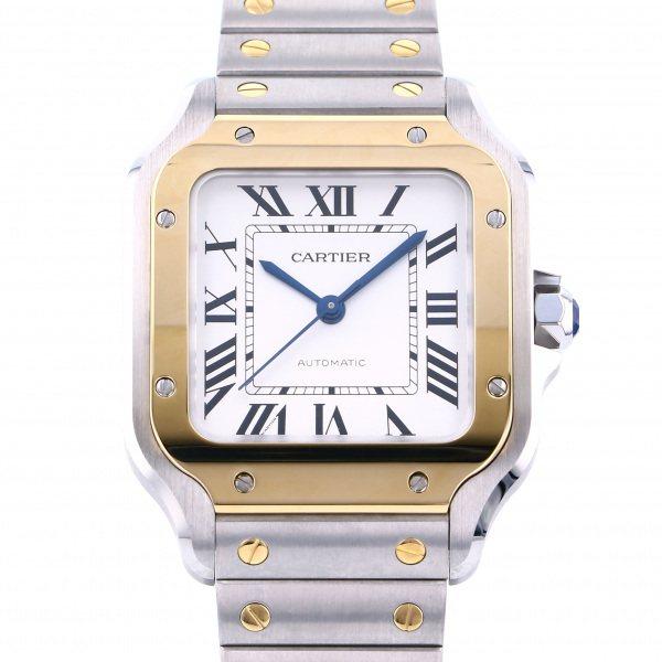 カルティエ CARTIER サントス ドゥ カルティエ MM W2SA0007 シルバー文字盤 メンズ 腕時計 【新品】
