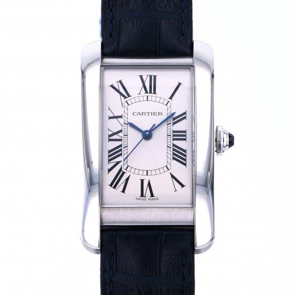 カルティエ CARTIER タンク アメリカン LM WSTA0018 シルバー文字盤 メンズ 腕時計 【新品】