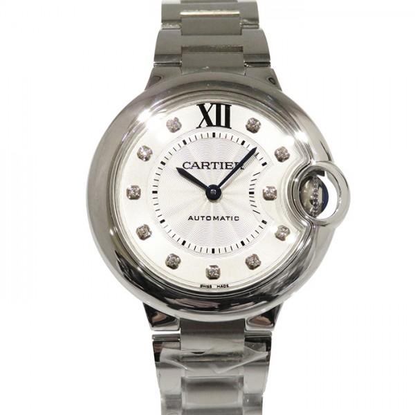 カルティエ CARTIER バロンブルー 33mm WE902074 シルバー文字盤 レディース 腕時計 【新品】