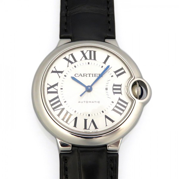 カルティエ CARTIER バロンブルー MM W69017Z4 シルバー文字盤 メンズ 腕時計 【新品】
