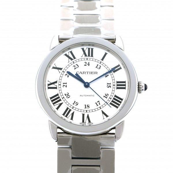 カルティエ CARTIER ロンドソロ ドゥ カルティエ WSRN0012 シルバー文字盤 メンズ 腕時計 【新品】