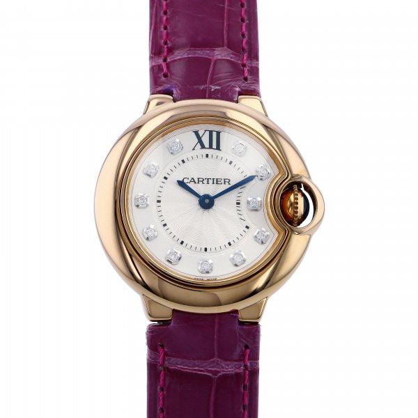 カルティエ CARTIER バロンブルー WJBB0019 シルバー文字盤 レディース 腕時計 【新品】