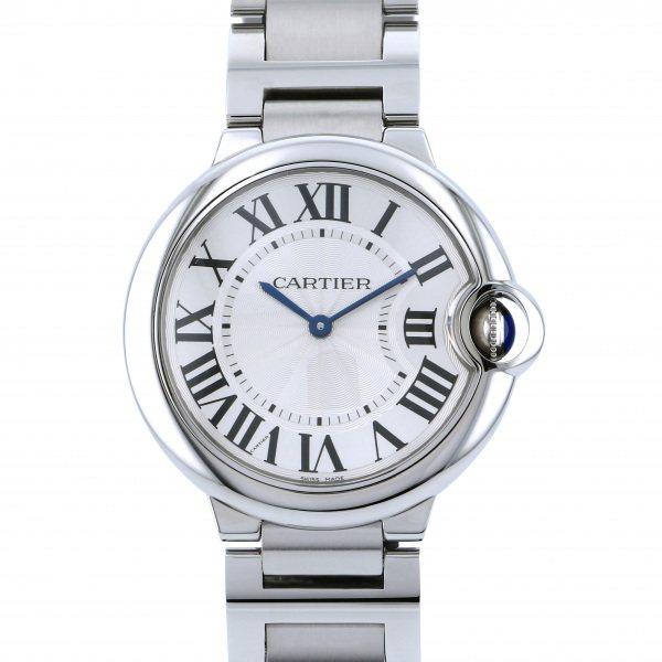 カルティエ CARTIER バロンブルー MM W69011Z4 シルバー文字盤 メンズ 腕時計 【新品】