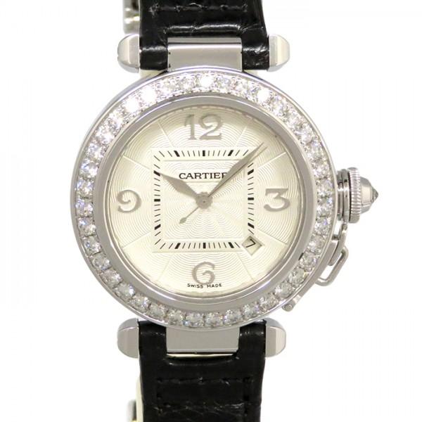 カルティエ CARTIER パシャ WJ111651 シルバー文字盤 レディース 腕時計 【新品】