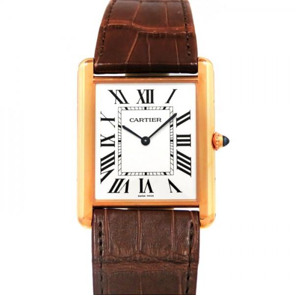 カルティエ CARTIER タンク ルイ カルティエ エクストラ フラット XL W1560017 シルバー文字盤 メンズ 腕時計 【新品】