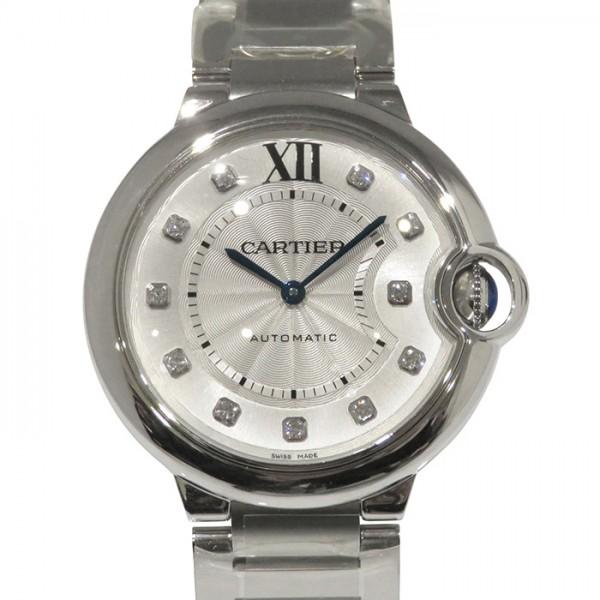 カルティエ CARTIER バロンブルー 36mm WE902075 シルバー文字盤 レディース 腕時計 【新品】