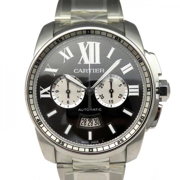 カルティエ CARTIER カリブル ドゥ カルティエ クロノグラフ W7100061 ブラック/シルバー文字盤 メンズ 腕時計 【新品】