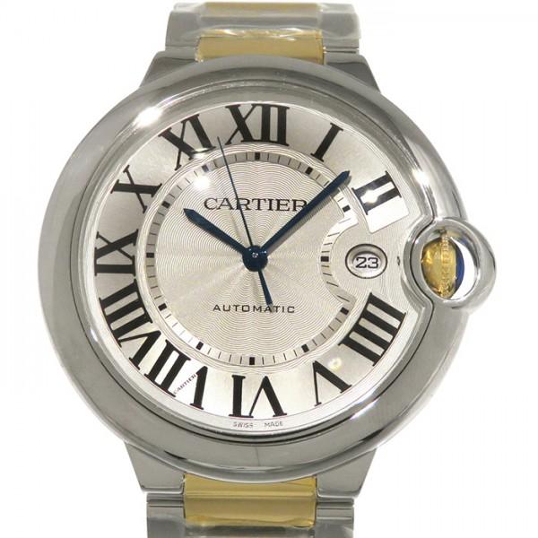カルティエ CARTIER バロンブルー LM W69009Z3 シルバー文字盤 メンズ 腕時計 【新品】