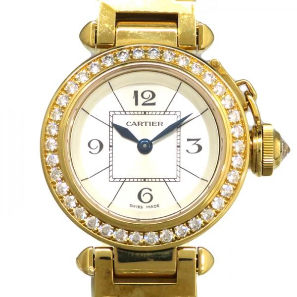 カルティエ CARTIER パシャ ベゼルダイヤ WJ124014 シルバー文字盤 レディース 腕時計 【新品】